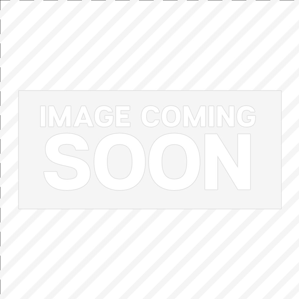 "Tablecraft CW5106CWA 12 7/8"" x 21 1/4"" Single Well Aluminum Circle Swirl Finish 3 Cuts Cold Food Template"