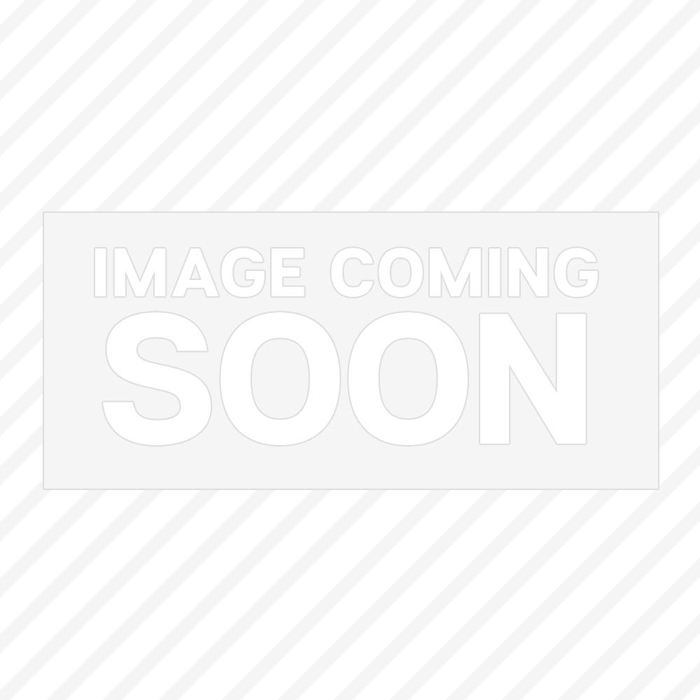 "Thunder Group 10-1/4"" Square Passion White Melamine Plate 